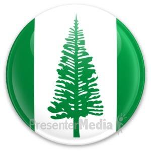 ID# 20292 - Flag Norfolk Island Button - Presentation Clipart
