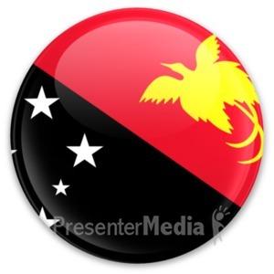 ID# 20295 - Flag Papua New Guinea Button - Presentation Clipart