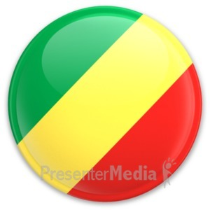 ID# 20297 - Flag Republic Of The Congo Button - Presentation Clipart