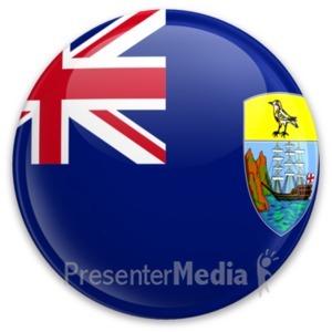 ID# 20299 - Flag Saint Helena Ascension And Tristan  - Presentation Clipart