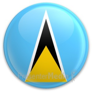 ID# 20301 - Flag Saint Lucia Button - Presentation Clipart
