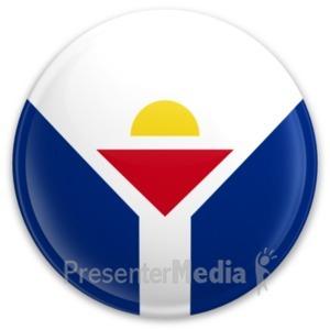 ID# 20303 - Flag Saint Martin Button - Presentation Clipart