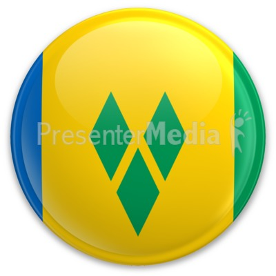 Flag Saint Vincent And The Grenadines Bu PowerPoint Clip Art