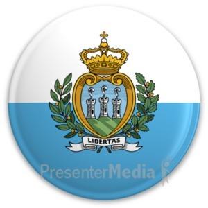 ID# 20307 - Flag San Marino Button - Presentation Clipart