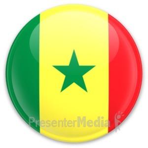 ID# 20309 - Flag Senegal Button - Presentation Clipart