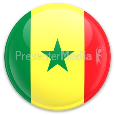 Flag Senegal Button PowerPoint Clip Art