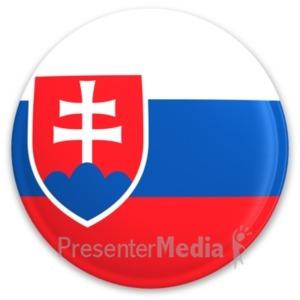 ID# 20311 - Flag Slovakia Button - Presentation Clipart