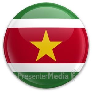 ID# 20313 - Flag Suriname Button - Presentation Clipart