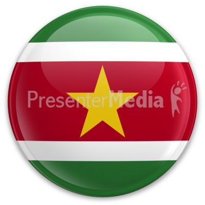 Flag Suriname Button PowerPoint Clip Art