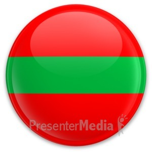 ID# 20319 - Flag Transnistria Button - Presentation Clipart