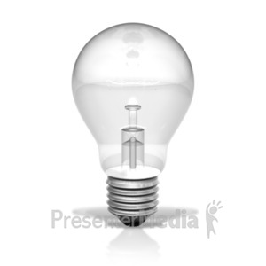ID# 20321 - Single Light Bulb Unlit - Presentation Clipart