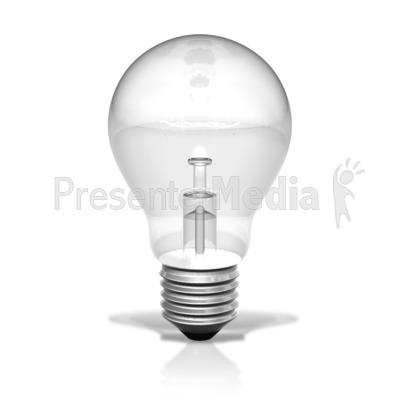 Single Light Bulb Unlit PowerPoint Clip Art