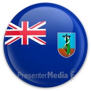 ID# 20338 - Flag Montserrat Button - Presentation Clipart