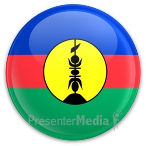 ID# 20339 - Flag New Caldeonia Button - Presentation Clipart