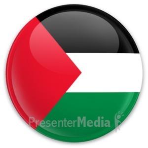 ID# 20342 - Flag Palestine Button - Presentation Clipart