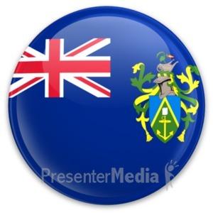 ID# 20343 - Flag Pitcarin Islands Button - Presentation Clipart