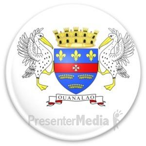 ID# 20344 - Flag Saint Barthelemy Button - Presentation Clipart