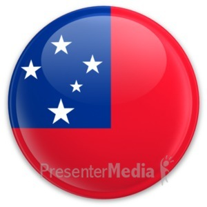 ID# 20346 - Flag Samoa Button - Presentation Clipart