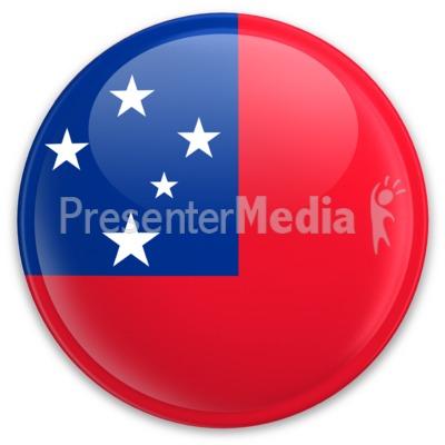 Flag Samoa Button PowerPoint Clip Art