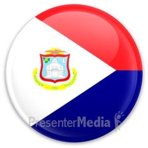 ID# 20348 - Flag Sint Maarten Button - Presentation Clipart