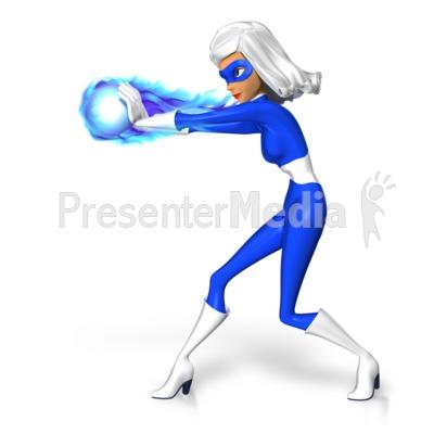 Supergal Fireball Energy PowerPoint Clip Art