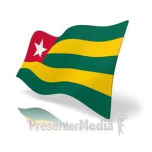 ID# 20368 - Flag Togo - Presentation Clipart