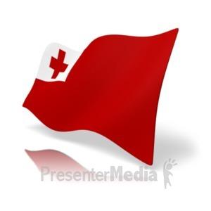 ID# 20371 - Flag Tonga - Presentation Clipart