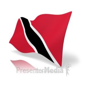 ID# 20374 - Flag Trinidad And Tabago - Presentation Clipart