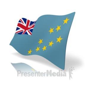 ID# 20376 - Flag Tuvalu - Presentation Clipart