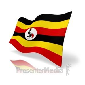 ID# 20377 - Flag Uganda - Presentation Clipart