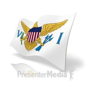 ID# 20378 - Flag United States Virgin Islands - Presentation Clipart