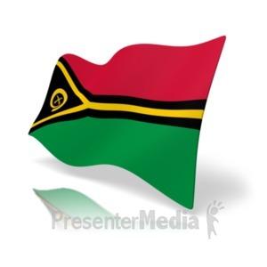 ID# 20379 - Flag Vanuatu - Presentation Clipart