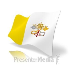 ID# 20380 - Flag Vatican - Presentation Clipart