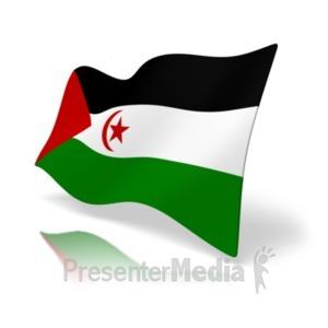 ID# 20382 - Flag Western Sahara - Presentation Clipart