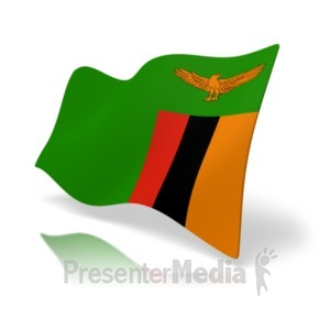 ID# 20385 - Flag Zambia - Presentation Clipart