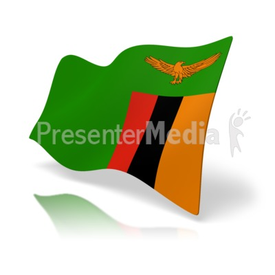 Flag Zambia PowerPoint Clip Art