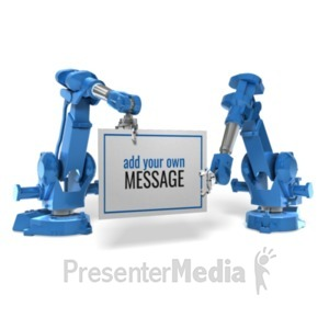 ID# 20398 - Robot Arm Sign - Presentation Clipart