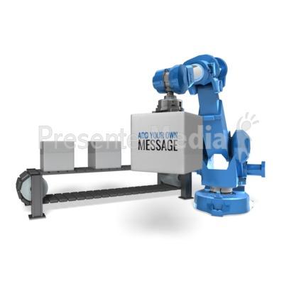 Robot Arm Conveyor Belt Presentation clipart