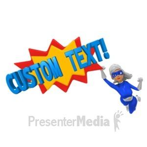 ID# 20418 - Supergal Pow Custom - Presentation Clipart