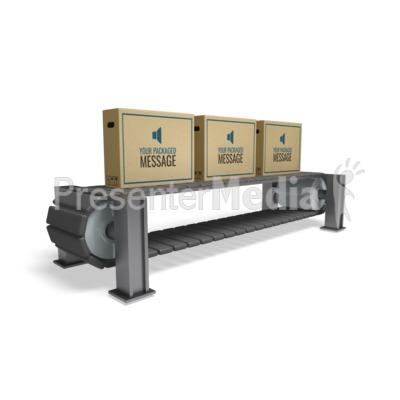 Boxes On Conveyor Presentation clipart