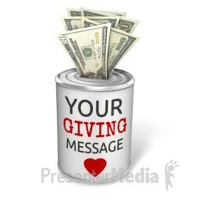 ID# 20505 - Donation Can Dollar - Presentation Clipart