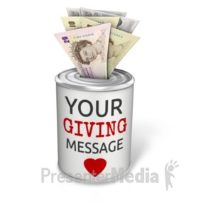 ID# 20507 - Donation Can Pound - Presentation Clipart
