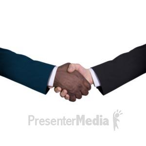 ID# 20520 - Business Diversity Handshake - Presentation Clipart
