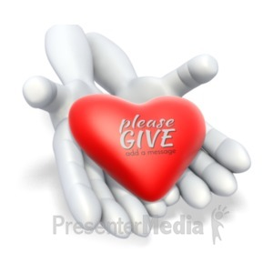 ID# 20547 - Heart In Hands - Presentation Clipart