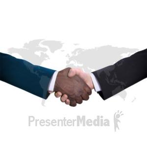ID# 20548 - World Diversity Handshake - Presentation Clipart