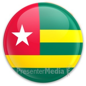 ID# 20573 - Flag Togo Button - Presentation Clipart