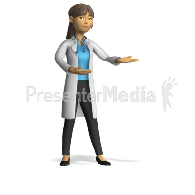 Female Doctor Present Gesture PowerPoint Clip Art