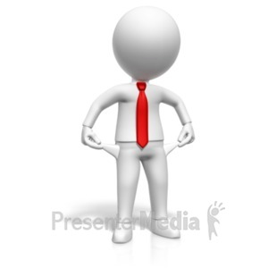 ID# 20587 - Figure With Empty Pockets - Presentation Clipart