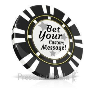 ID# 20592 - Custom Black Poker Chip - Presentation Clipart
