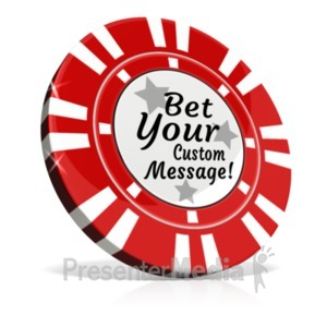 ID# 20595 - Custom Poker Chip - Presentation Clipart